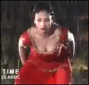 Wet Nadia in red dress
